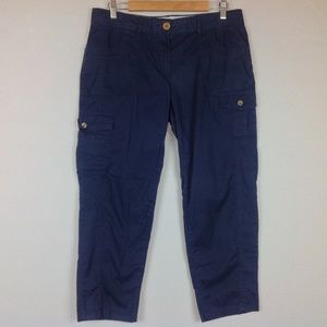 Tommy Hilfiger Cargo Cropped Pants Womens 10 Blue
